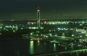 千葉ポートタワーを望む夜景の写真素材 [FYI04059286]