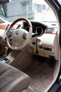 車内運転席の写真素材 [FYI04059834]
