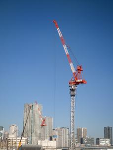 オリンピック選手村の建設工事の写真素材 [FYI04060785]