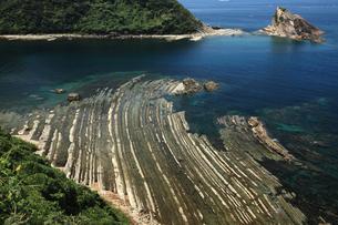 島根半島の洗濯岩 -砂岩・泥岩・凝灰岩がつくる縞模様-の写真素材 [FYI04060801]