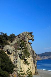 獅子巌 海食地形の一例の写真素材 [FYI04060809]