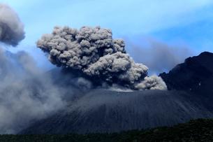平成27年6月,桜島南岳火口からの爆発的噴火の写真素材 [FYI04060824]