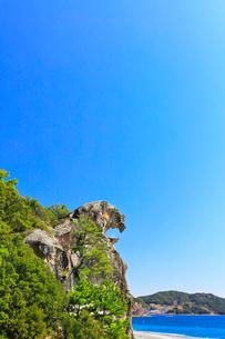熊野古道・獅子岩と七里御浜の写真素材 [FYI04060900]