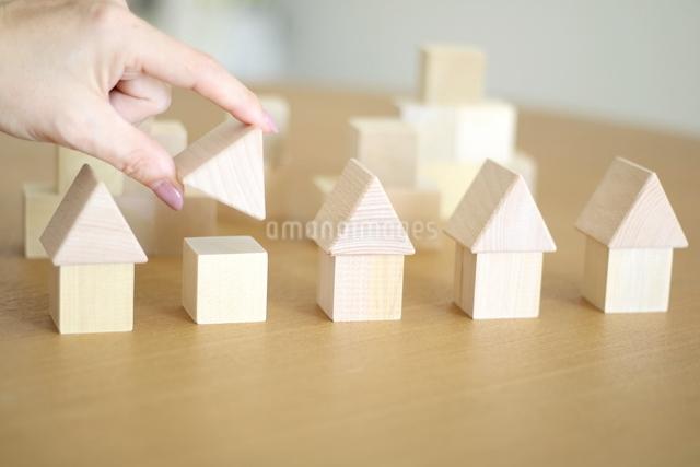 積み木の家の写真素材 [FYI04063943]