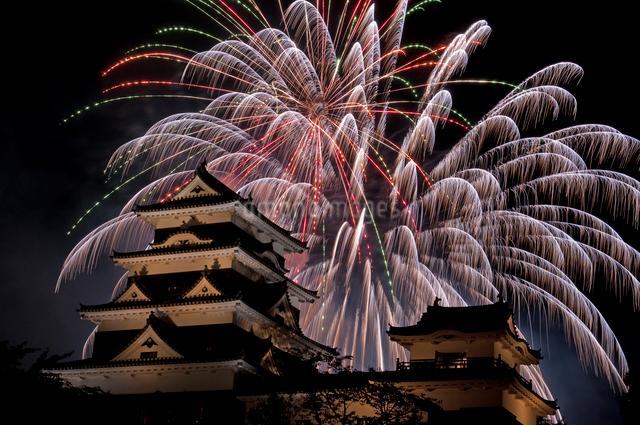 大洲川まつり花火大会の写真素材 [FYI04063957]