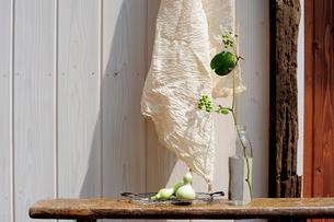布とひょうたんの写真素材 [FYI04065921]