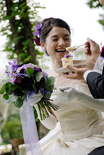 新郎と新婦とケーキの写真素材 [FYI04065984]