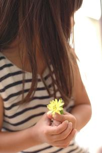 花を持つ女の子の写真素材 [FYI04066288]
