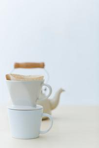 コーヒーとケトルの写真素材 [FYI04066695]