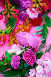 花(シャクヤク バラ ギボウシ グロリオサ)の写真素材 [FYI04066736]
