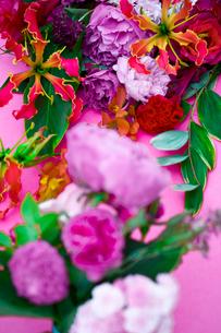 花(シャクヤク バラ ギボウシ グロリオサ)の写真素材 [FYI04066737]