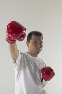 ボクシングをしている男性の写真素材 [FYI04067623]