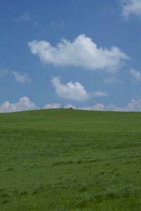 緑の丘と青空の写真素材 [FYI04068124]