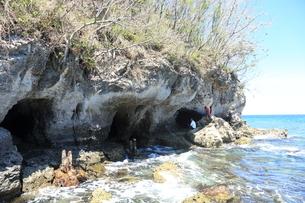 ラバウルにある日本軍の潜水艦基地跡の写真素材 [FYI04068162]