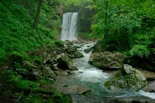 夫婦滝の写真素材 [FYI04068454]