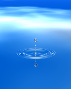 水面に落ちた水滴 CGのイラスト素材 [FYI04068665]