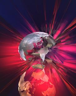 破裂する地球 CGの写真素材 [FYI04068669]