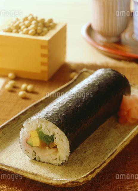節分の巻き寿司の写真素材 [FYI04069536]
