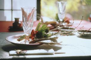正月のテーブルセットの写真素材 [FYI04069543]