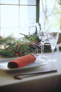 正月のテーブルセットの写真素材 [FYI04069545]