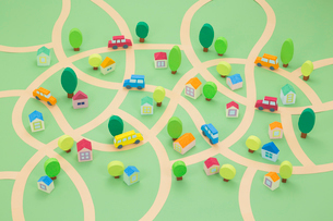 住宅地の街並み俯瞰の写真素材 [FYI04069766]