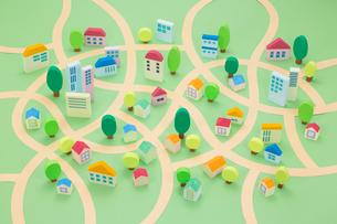 住宅地の街並み俯瞰の写真素材 [FYI04069768]