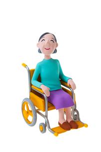 車椅子の女性の写真素材 [FYI04069877]