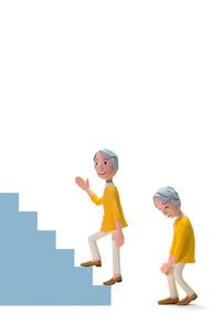 階段,登る,膝痛,初老女性の写真素材 [FYI04069887]