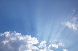 光の差す空の写真素材 [FYI04070035]