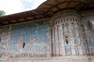 ヴォロネツ修道院のフレスコ画の写真素材 [FYI04071289]