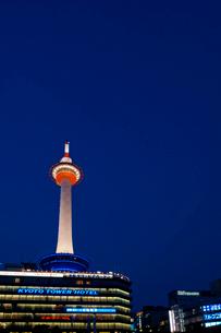 京都タワー 夜景の写真素材 [FYI04071418]