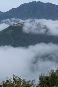 竹田城 雲海の写真素材 [FYI04071954]
