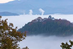 雲海の大野城の写真素材 [FYI04071981]
