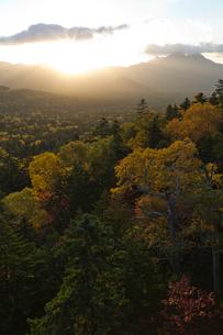 三国峠からの日の出の写真素材 [FYI04072209]
