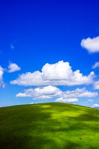 霧ヶ峰高原夏の浮雲の写真素材 [FYI04072862]