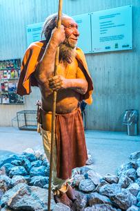 ネアンデルタール人の復元像の写真素材 [FYI04073488]