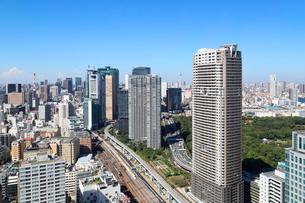 貿易センター展望台から見る新橋方面の景観の写真素材 [FYI04073705]
