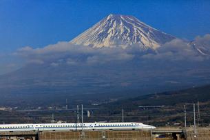 新幹線と富士山の写真素材 [FYI04074200]