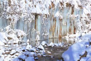 白川氷柱群の写真素材 [FYI04074356]
