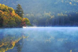 秋のオンネトーの写真素材 [FYI04074367]