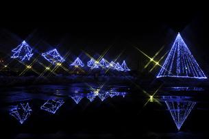 鳥屋野潟公園イルミネーションの写真素材 [FYI04074502]