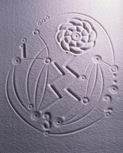 ジグザグと白砂の写真素材 [FYI04076894]