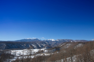 快晴の八ヶ岳連峰の写真素材 [FYI04076918]