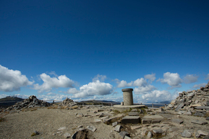 秋の牛伏山山頂の写真素材 [FYI04076944]