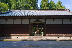 世界文化遺産の山宮浅間神社の籠屋の写真素材 [FYI04077025]