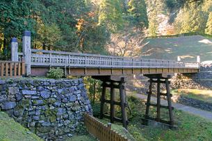 八王子城跡 曳橋の写真素材 [FYI04077328]