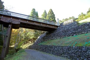 八王子城跡 曳橋の写真素材 [FYI04077332]