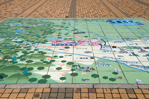 村山貯水池 広場の東京都水道地図の写真素材 [FYI04077363]