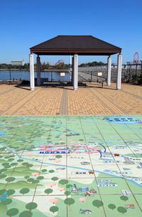 村山貯水池 広場の東京都水道地図の写真素材 [FYI04077364]