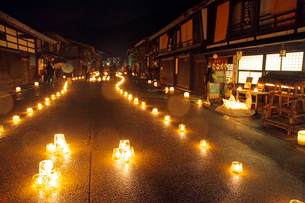 奈良井宿アイスキャンドル祭の写真素材 [FYI04077394]